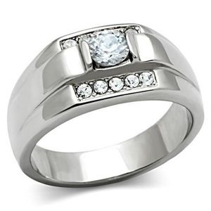 Other - STAINLESS STEEL Men's AAA Grade CZ Ring NWT